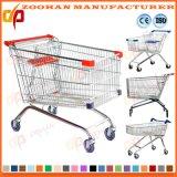 Carro do trole da compra do supermercado do metal nas rodas tradicionais (Zht152)