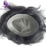 Haut Cheveux humains Mono Base Men's Toupee (TP02)