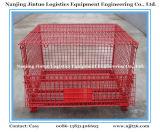 Contentores de malha de armazenamento industrial plegáveis de malha de arame empilhável