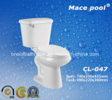 목욕탕 Toliet 2 조각 수세식 변소 (CL-047)