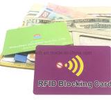 Protecção do cartão de crédito Anti RFID RFID Digitalização ilegal Bloqueando o cartão de PVC