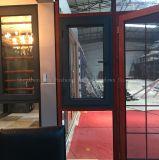 Ventana de aluminio del marco del Calor-Aislante del perfil con el vidrio endurecido doble