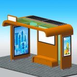 Rue personnalisée annonçant l'aubette solaire de cadre léger