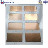Satin décoratif coloré de délié de plaque de feuille d'acier inoxydable d'or de Rose d'or