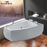 Nueva bañera barata del masaje del estilo con el panel movible para 2 personas