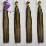 Estensioni pre legate piane dei capelli di punta dei capelli umani di Remy di Muti-Colore (FT08)