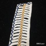 высокое качество покрашенное утеской ворота шнурка платья банкета шнурка Neckline картины нашивки геометрии ткани шнурка ворота хлопка 30*31cm навальной шикарной Hm2027