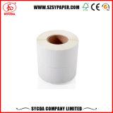 Papier thermique d'étiquette adhésive/collant destructif personnalisé de vinyle