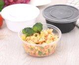 Коробка обеда крышки пояса коробки обеда 1000 Ml устранимая прозрачная пакуя Takeout свежий шар коробки обеда пластичный круглый