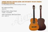 Großhandelspreis-Farben-Furnierholz Lindenwood Karosserien-klassische Gitarre