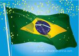 Sunproof feito sob encomenda e bandeira impermeável de Brasil da bandeira nacional