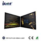 Bonne vente 2.4/ 3.5/ 4.3/ 5/ 7 pouces LCD Carte de voeux de mariage Brochure Carte de voeux vidéo pour mariage