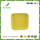 Carrés colorés organiques Fibre de bambou plaque Non-Toxic Premium