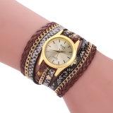 Donne casuali Esg11108 del reticolo della cinghia delle signore della vigilanza tortuosa del braccialetto