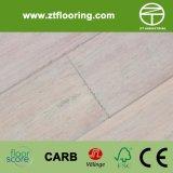 Blanc en bambou conçu de Handscraped de plancher de Strandwoven HDF