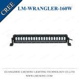 pulgada blanca 160W 25 IP67 impermeable del jeep de los accesorios 4X4 del Wrangler LED del CREE campo a través de la barra ligera