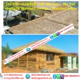 Tiki 바를 위한 자연적인 보기 종려 합성 이엉 또는 Tiki 오두막 합성 지붕을 짚으로 인 초막 물 방갈로 비치 파라솔 39