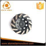 Колесо чашки диаманта этапа Turbo 6 дюймов меля для камня