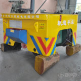 China Supplier 80t Assembly Line Use Rail Flat Trailer com motor elétrico