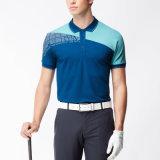 Playsuitの細く短い袖の常連の適当な伸張の綿のポロシャツ