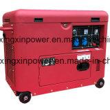5kw generador silencioso refrescado aire diesel silencioso estupendo, tipo móvil