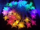 Indicatori luminosi leggiadramente della stringa della stella di mare di mini natale LED di energia solare per per il partito di festival della famiglia di natale di Halloween