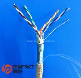 UL/CE/RoHS/ISO 승인되는 STP/FTP Cat5e 근거리 통신망 케이블 Simpact