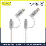 2 en 1 de la carga de datos USB Cables de teléfono móvil