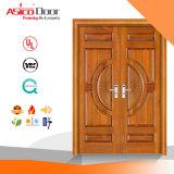 Portello di legno Rated del solido dell'entrata 100% della porta antincendio interno