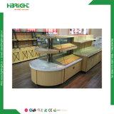 Cabina de visualización de madera de cristal de la torta del escaparate de la panadería del supermercado