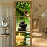 3 لون جدار فنّ [أيل بينتينغ] منتجع مياه استشفائيّة حجارة خيزرانيّ [كندلس] بيتيّة زخرفة يطبع نوع خيش صور لأنّ يعيش غرفة [مك-246]