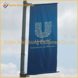 Support de Pôle d'indicateur de la publicité d'image de medias d'alliage d'aluminium (BT95)