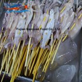 Pincho congelado del calamar de North Pacific del alimento de mar