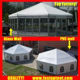 Fastup tenda grande branco lado múltiplos Marquee tenda para a Igreja de 6m de diâmetro 30 pessoas lugares comentários