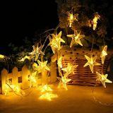 Света шнура звезды моря миниого рождества Fairy СИД солнечной силы для для партии празднества семьи Xmas Halloween