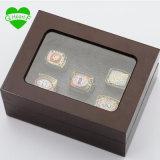 Комплекты кольца сбываний фабрики с кольцом чемпионата краснокожих меди 5PCS/Packs Вашингтон Супер Боул реплики деревянных коробок