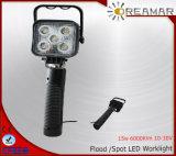 15W Auto recargable luz LED de trabajo con 6000K, IP67 Resistente al agua.
