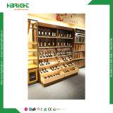 Supermarkt-luxuriöse hölzerne Wein-Bildschirmanzeige-Fach-Bildschirmanzeige-Zahnstangen