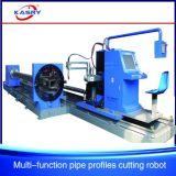 8개의 축선 강철 CNC 관 관 단면도 Plamsa 프레임 절단 경사지는 기계 Kr Xf8