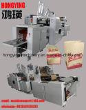 機械、機械、機械を作る食料雑貨入れの袋を作るペーパーショッピング・バッグを作る正方形の最下の紙袋を入れるペーパーロール