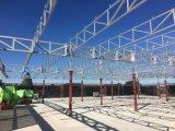 Edificio prefabricado durable del pabellón de la estructura de acero con el panel de PIR