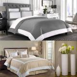 Assestamento del coperchio 6PCS del Comforter del Duvet dell'hotel di Taupe e di bianco impostato (DPFB8086)