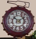 Decoración Vintage roja de Antigüedades de Soda la tapa de metal de forma de reloj de mesa