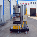 Elevador da plataforma de trabalho do mastro da liga de alumínio único (altura de 9m)