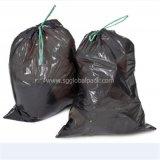 Sac d'ordures noir de empaquetage de détritus