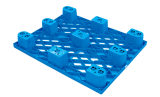 стороны пластичного паллета хранения пакгауза 1200*800*140mm одиночные 9 футов пластичного подноса (ZG-1208A)