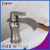 Fyeer Brass Body Oblate Spout Nickle Escova escovada Waterfall Faucet