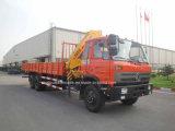 6X4 210HP 10 tonnellate di camion resistente del carico ha montato con la gru