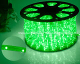 Cuerda al aire libre y de la luz LED de luz/TIRA DE LEDS de luz/Luz de Neón/Luz de Navidad de luz/Vacaciones/Hotel/Barra redonda de la luz de luz blanca cálida de dos cables 25LED de 1,6 W/M DE TIRA DE LEDS