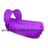 Sleepingbagの膨脹可能なソファーの避難所が付いている不精な空気ソファー